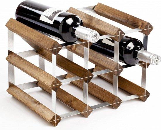 Sorrells Wijnrek - 23 x 32 x 23 cm - 9 flessen - Dark oak