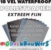waterproof polijstpapier extreem fijn 10 vel