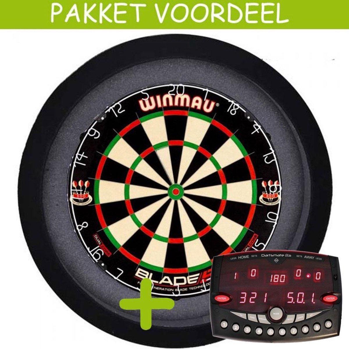 Elektronisch Dart Scorebord VoordeelPakket (Elite ) - Dual Core - Dartbordverlichting Basic (Zwart)