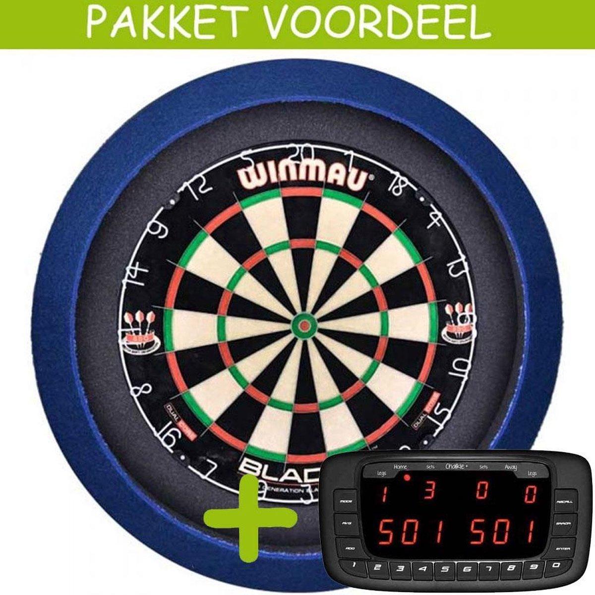 Elektronisch Dart Scorebord VoordeelPakket (Chalkie + ) - Blade 5 - Dartbordverlichting Basic (Blauw)