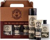 Men's Master Professional Shaving Set Giftset Mannen - Aftershave Balm & Gezichtscrème & Scheerschuim - Cadeau voor Hem - Geschenk Heren