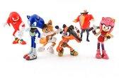 Sonic Boom Speelfiguren - Sonic en Knuckles actiefiguren - 6 cm 6 stuks - Sonic, Knuckles, Tails, Dr. Eggman, Amy, Sticks - Speelgoed Set
