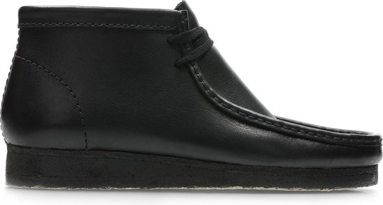 Clarks - Herenschoenen - Wallabee Boot - G - black leather - maat 9,5