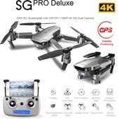 LUXWALLET SG-ProX1 - 12Km/h - 230 Gram - 4K Drone 2x Camera 8MP - Stabilisator - 5GHZ tot 500M Vliegen - GPS - 50X Zoom - 2x Accu