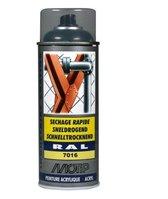 Motip industrial acryllak hoogglans RAL 7016 antraciet grijs - 400 ml.
