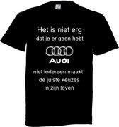 Audi t-shirt maat 4XL
