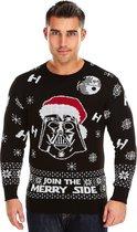 "Foute Kersttrui Heren - Christmas Sweater ""Join the Merry Side"" - Kerst trui Mannen Maat S"