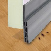 Rori - Aanpasbare Tochtstopper - Zelfklevende tochtstrip voor deuren - Grijs - 100 cm x 5 cm