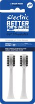 Better Toothbrush - Opzetborstels voor Philips -  2 stuks - wit