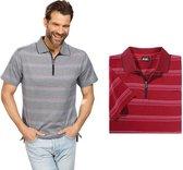 Poloshirt gestreept, kleur rood, maat M