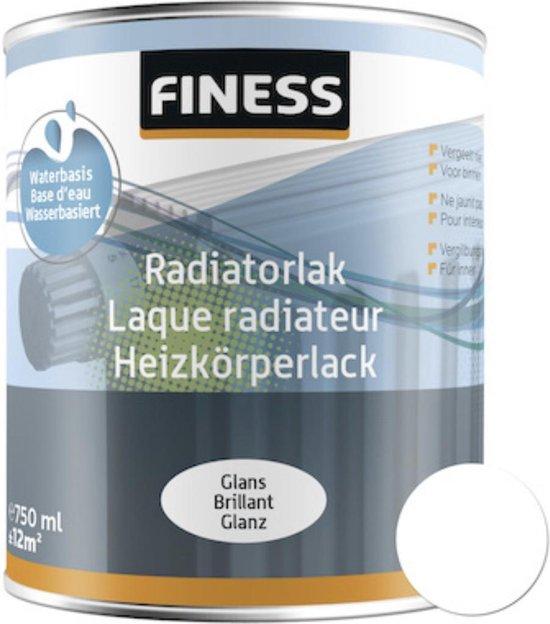 Finess Radiatorlak - niet vergelende, sneldrogende en glanzende aflak voor radiatoren en verwarmingsbuizen - 750ML - WIT