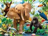 Rubye® Diamond Painting Volwassenen - Diamond Painting Kinderen -  Jungle Dieren - 30x40cm