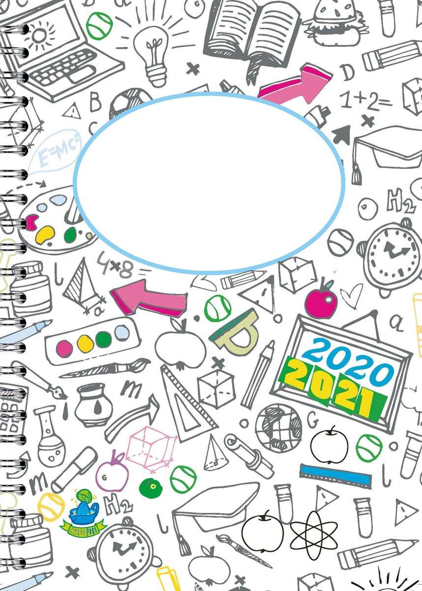 Schoolagenda A4 Z/W-Planner van CitrusPers