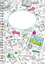 Schoolagenda 2021-2022 A4 Z/W-Planner van CitrusPers