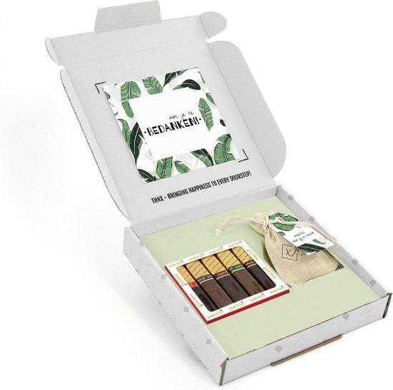 THNX - Bedankje collega - Merci Chocolaatjes - Cadeaudoosje - Chocolade & Bloemzaad - Evergreen