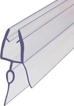 Simple Fix Lekstrip - Douchestrip - Waterkering - 60CM Lang - 6MM tot 8MM Glasdikte - Lekdorpel & Bolprofiel