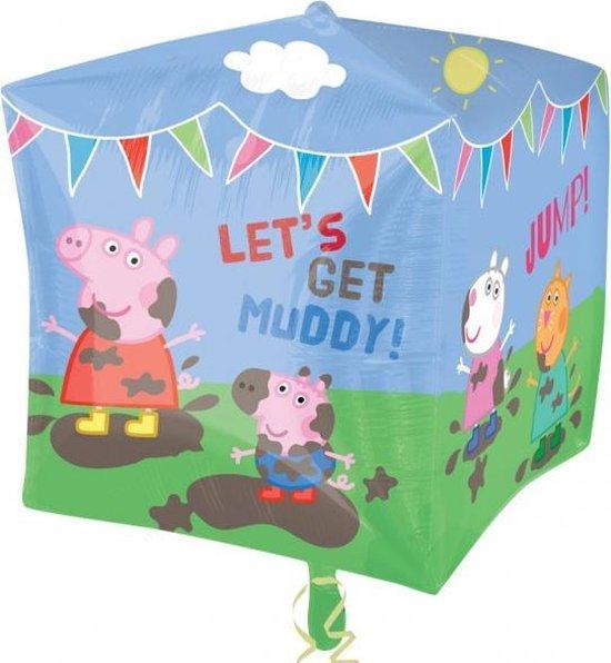 Peppa Pig Helium Ballon Kubus 38x38cm leeg