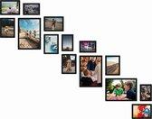 Magnetische fotolijst - Fotomuur trap - Zwart - 14 stuks
