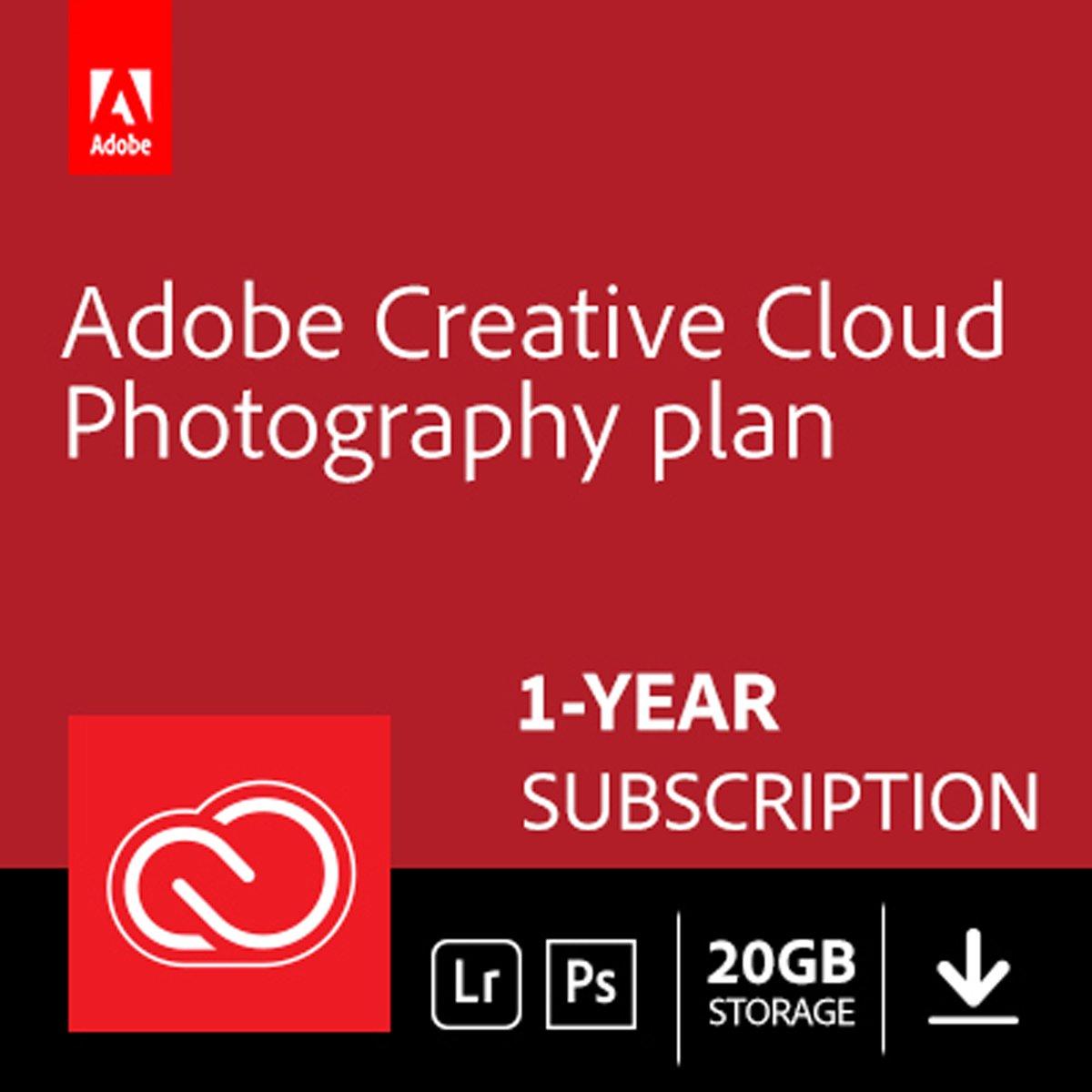 Adobe Creative Cloud Photography Plan - 1 Apparaat - 1 Jaar - 20GB Cloudopslag - Nederlands / Engels