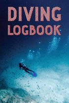 Diving Logbook: Red & White Scuba Diving Log Book to Log your Dives