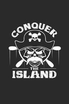 Conquer the Island: 6x9 Pirate - grid - squared paper - notebook - notes