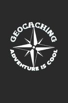 Geocaching adventure is cool: 6x9 Geocaching - grid - squared paper - notebook - notes