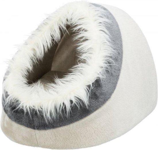 Trixie kattenmand iglo minou beige / grijs 41x30x50 cm