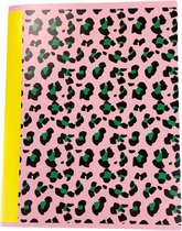 3-pak A5 schriften met panter print - Roze - Gelinieerd