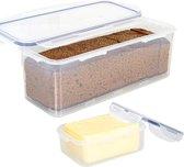 Lock&Lock Vershouddoos Set van 2 - Voor Boter en Ontbijtkoek - 350 ml + 2 liter