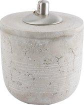 Naturel betonnen oliebrander WORTHY - diameter 18cm - D&M