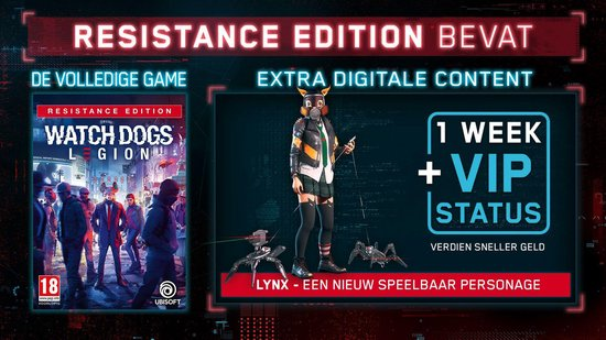 Watch Dogs: Legion Resistance Edition - PS4