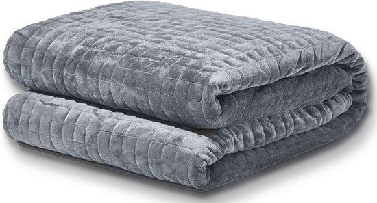 Somnox Verzwaringsdeken Kind 4 kg (Weighted Blanket) - Anti stress & angst- Betere slaap - Relax & ontspanning - 150 x 200 cm - Grijs