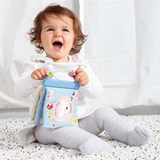 Babyboekje Stof - Imaginarium - Knisperboekje Baby - Met Kralen - Mijn Eerste Stoffen Boekje - Imaginarium