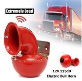 12V metalen rode Elektrische vrachtwagen toeter 115 dB