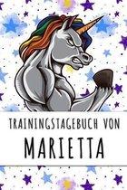 Trainingstagebuch von Marietta: Personalisierter Tagesplaner f�r dein Fitness- und Krafttraining im Fitnessstudio oder Zuhause
