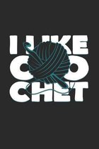 I like crochet: 6x9 Knit & Crochetl - dotgrid - dot grid paper - notebook - notes