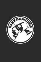 Wakeboarding: 6x9 Wakeboarding - dotgrid - dot grid paper - notebook - notes