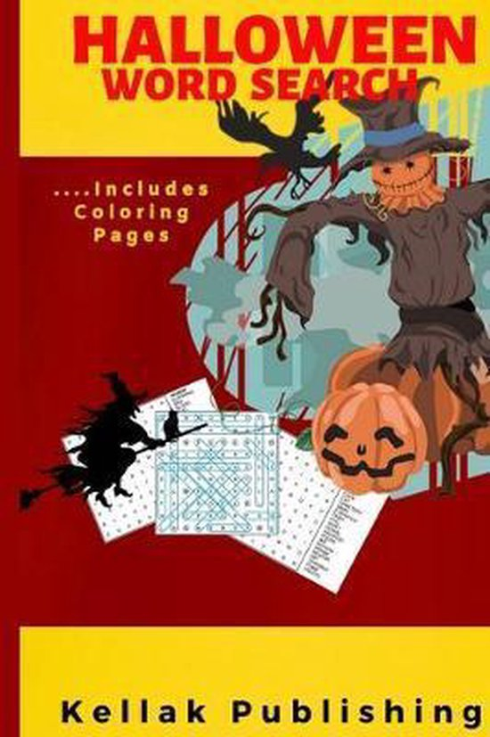Halloween Word Search: Halloween Word Search Puzzle Book- Halloween Coloring Book Pages For Older Kids- Halloween gifts for kids & Adult (Gag