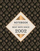 Notebook - Best Wife Since 2002: 17th Wedding Anniversary Gift for Her - Seventeen year Wedding Anniversary Gift for Wife Couple Married in 2002 ( 8.5