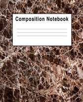 Composition Notebook: Abstract Brown