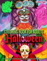Coloring Book for Adults - Halloween: Coloring Book for Grown-Ups Featuring Beautiful Fantasy Woman Halloween Art Coloring Page to Help Relieve Stress
