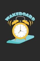 Wakeboard: 6x9 Wakeboarding - grid - squared paper - notebook - notes