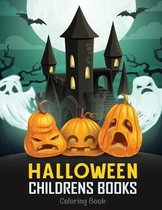 Halloween Childrens Books: 40 Relax coloring book for Kids, Toddlers and Preschoolers