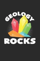 Geology rocks: 6x9 Minerals - grid - squared paper - notebook - notes
