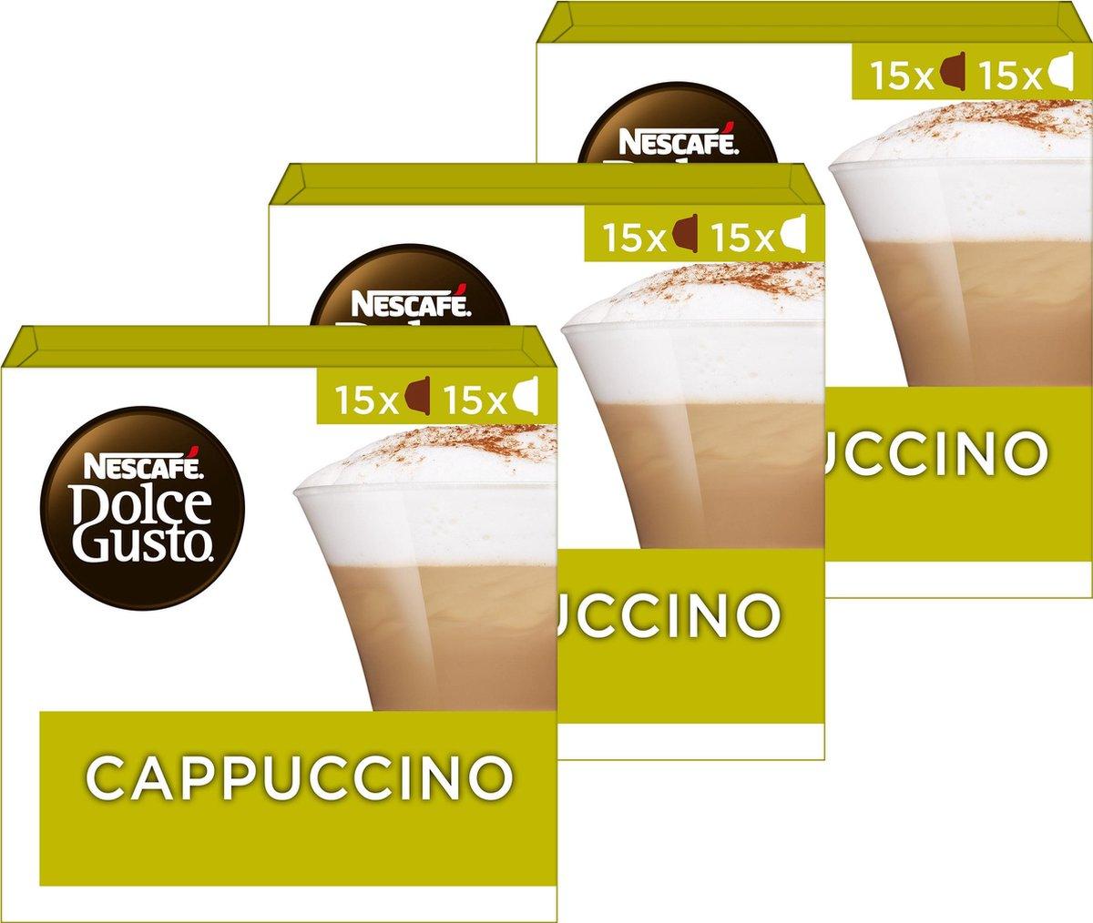 Nescafé Dolce Gusto capsules Cappuccino - voordeelverpakking - 90 koffiecups - geschikt voor 45 kopp