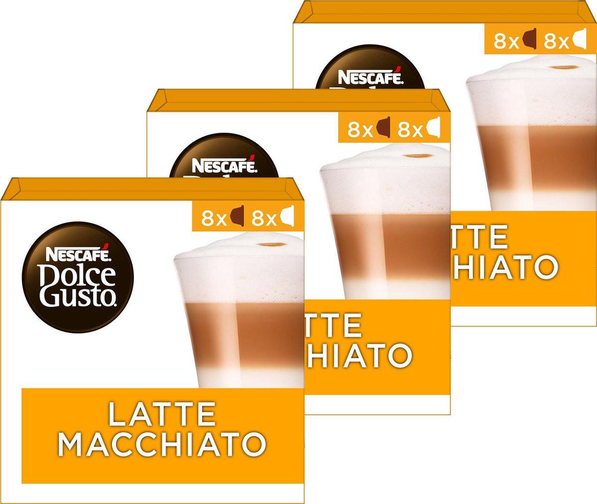 Nescafé Dolce Gusto capsules Latte Macchiato - 48 koffiecups - geschikt voor 24 koppen koffie