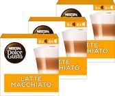 NESCAFÉ® Dolce Gusto® Latte Macchiato Koffiecups - 3 doosjes à 16 geschikt voor 24 koppen