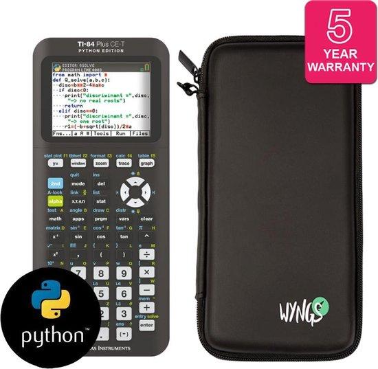 Afbeelding van TI-84 Plus CE-T Python Edition + verlengde garantie + Beschermhoes