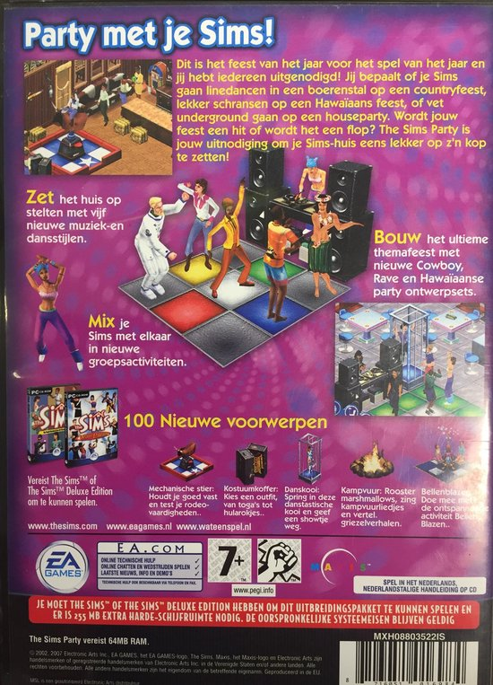 The Sims Party - Uitbreidingspakket - PC - cd-rom - Windows