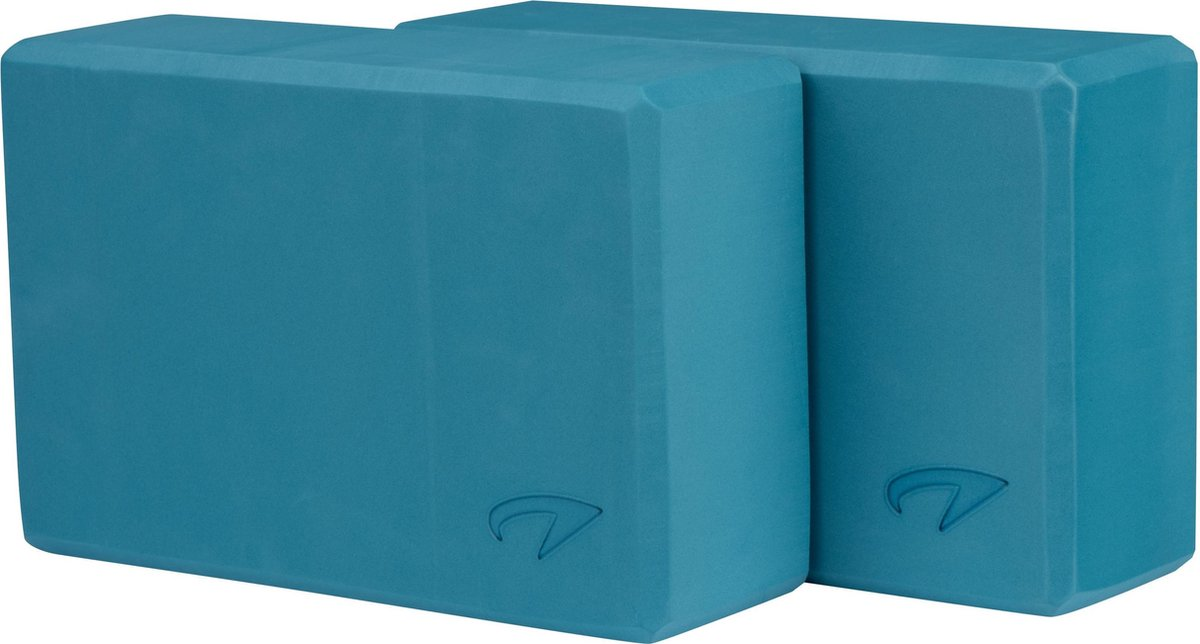 Avento Yoga Blok Set van 2 - Foam - Blauw